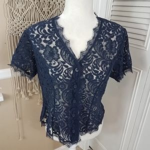 Cabi Lace button London Calling Lace Blouse medium